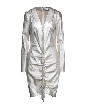 Короткое платье JITROIS. Цвет: платиновый