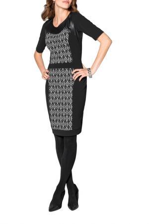 Платье Apart. Цвет: черный, кремовый