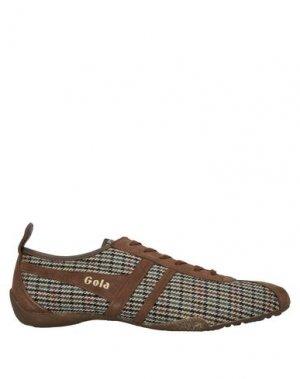 Низкие кеды и кроссовки GOLA. Цвет: коричневый