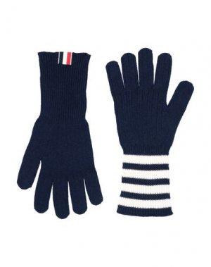 Перчатки THOM BROWNE. Цвет: темно-синий