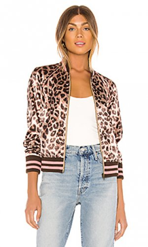 Куртка бомбер the letterman zip jacket MOTHER. Цвет: brown,mauve