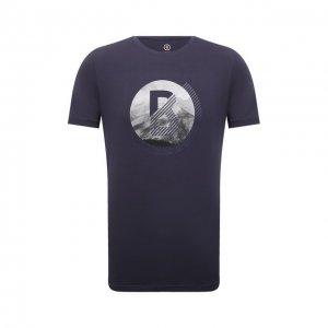 Хлопковая футболка Bogner. Цвет: синий