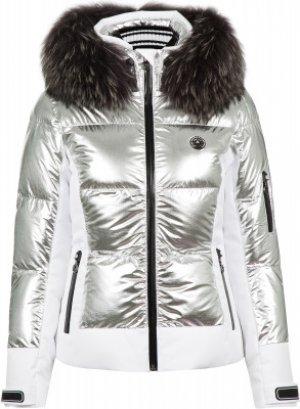 Куртка утепленная женская Cooris Metallic m.Kap+P, размер 42 Sportalm. Цвет: серебристый