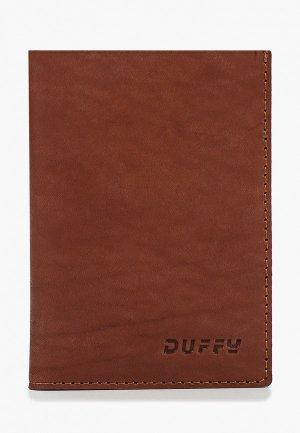 Обложка для паспорта Duffy. Цвет: коричневый