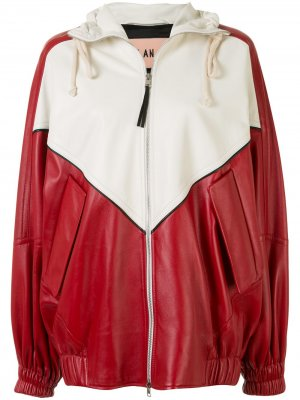 Куртка-бомбер в стиле колор-блок Plan C. Цвет: красный