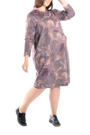 Платье Forus. Цвет: коричневый, фиолетовый
