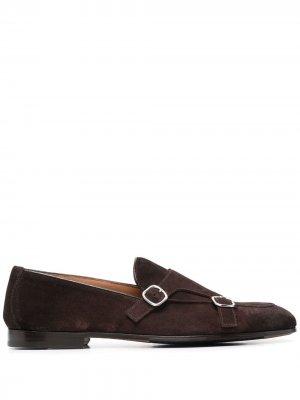 Doucals туфли монки с пряжками Doucal's. Цвет: коричневый