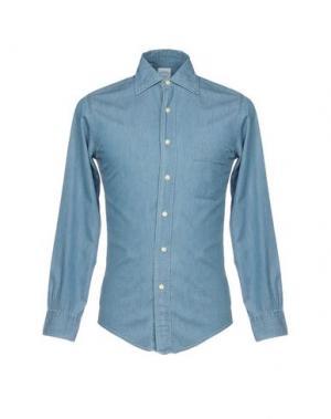 Джинсовая рубашка BROOKS BROTHERS. Цвет: синий