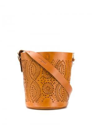 Сумка-ведро Kalai Antik Batik. Цвет: коричневый