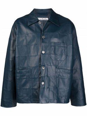 Стеганая куртка Acne Studios. Цвет: синий