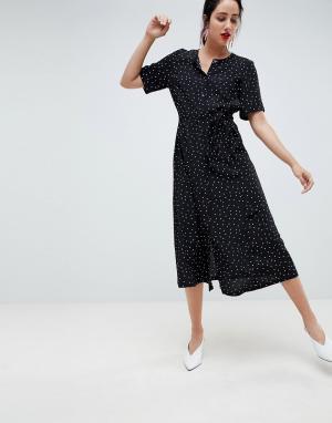 Длинное платье-рубашка в горошек Gestuz