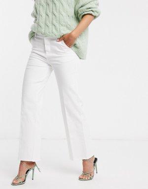 Широкие джинсы с необработанным краем Forever-Кремовый b.Young