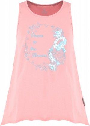 Майка для девочек , размер 146 Outventure. Цвет: розовый