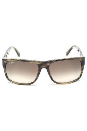 Очки солнцезащитные Salvatore Ferragamo. Цвет: серый микс