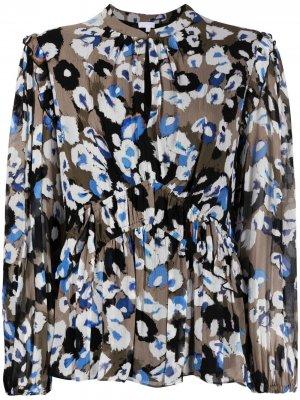 Блузка с принтом Lala Berlin. Цвет: коричневый