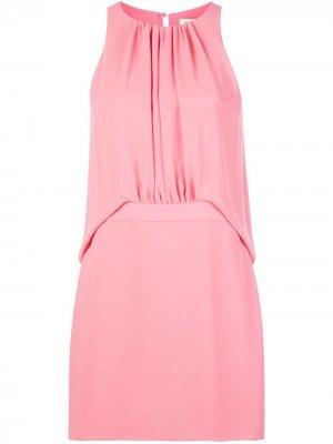 Платье-трапеция без рукавов Halston Heritage. Цвет: розовый