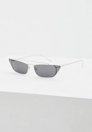 Очки солнцезащитные Prada PR 64US 1BC5S0. Цвет: серебряный