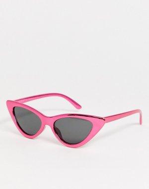 Розовые солнцезащитные очки кошачий глаз -Розовый AJ Morgan