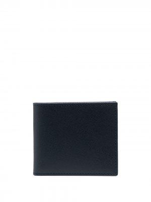 Бумажник с отделениями для карт Corneliani. Цвет: синий