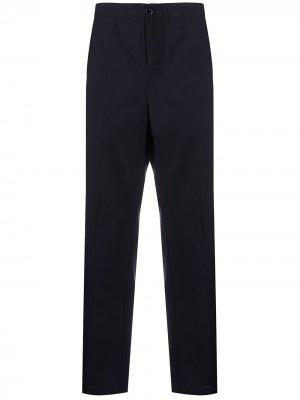Прямые брюки с эластичным поясом Stussy. Цвет: черный