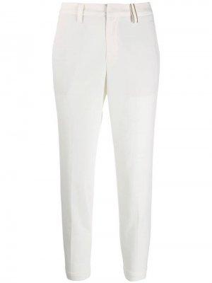 Укороченные брюки чинос кроя слим Brunello Cucinelli. Цвет: бежевый
