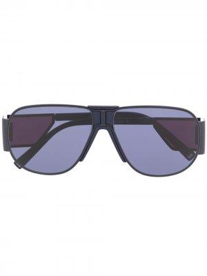 Солнцезащитные очки-авиаторы Givenchy Eyewear. Цвет: синий