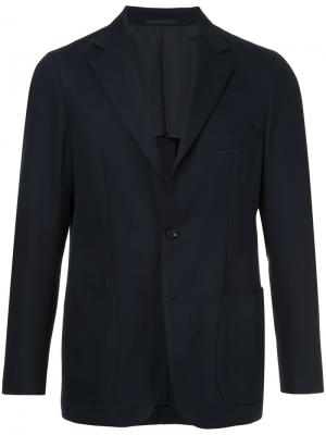 Пиджак с простроченной отделкой United Arrows. Цвет: синий