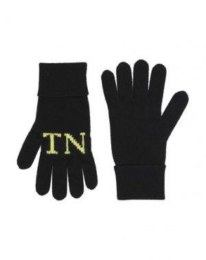 Перчатки VALENTINO GARAVANI. Цвет: черный
