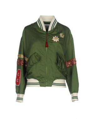 Куртка DONDUP. Цвет: зеленый