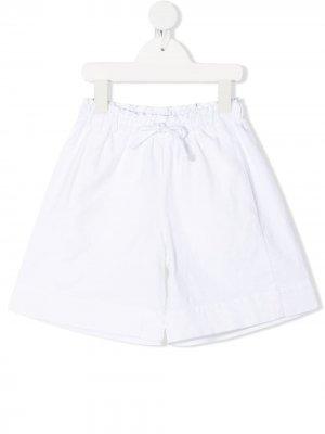Расклешенные шорты с эластичным поясом Il Gufo. Цвет: белый