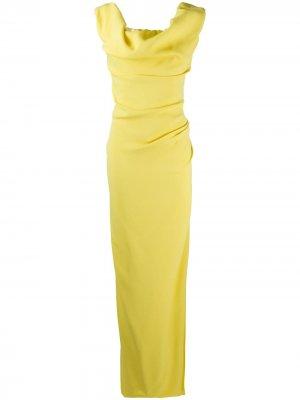 Длинное платье с воротником-хомутом Vivienne Westwood. Цвет: желтый