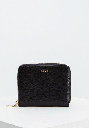 Кошелек DKNY BRYANT-SMALL ZIP AROUND-SUTTON. Цвет: черный