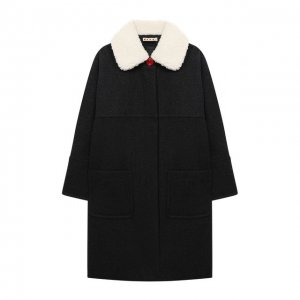 Шерстяное пальто Marni. Цвет: серый