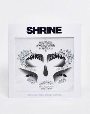 Стразы для лица на Хэллоуин с дизайном череп -Многоцветный Shrine