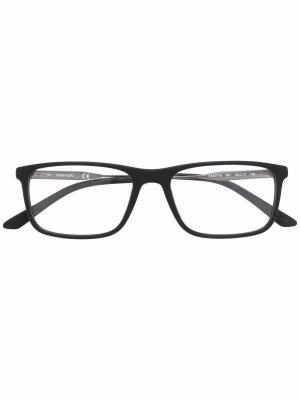 Очки в прямоугольной оправе с логотипом Calvin Klein. Цвет: серебристый