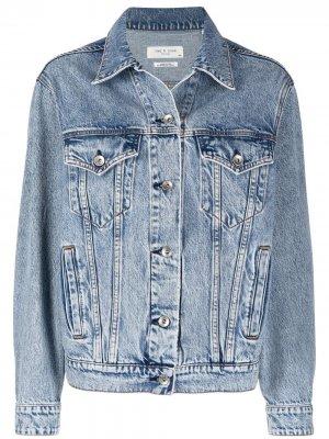 Джинсовая куртка на пуговицах Rag & Bone. Цвет: синий