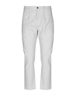 Повседневные брюки ANERKJENDT. Цвет: светло-серый