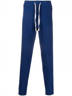 Зауженные спортивные брюки Casablanca. Цвет: синий