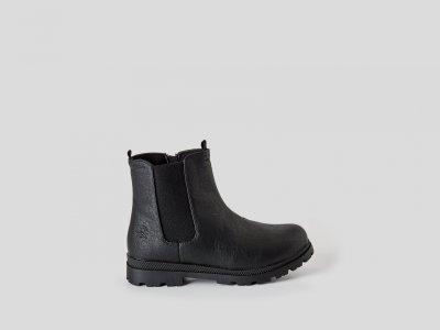 Ботинки из эко-кожи на высокой подошве Benetton. Цвет: черный
