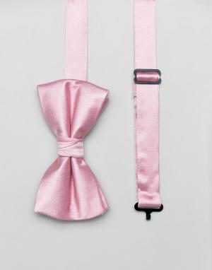 Галстук-бабочка и булавка на лацкан пиджака Ben Sherman. Цвет: розовый
