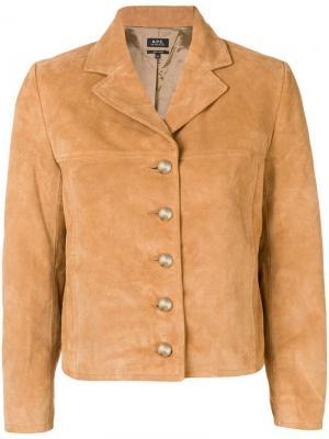 Укороченная куртка A.P.C.. Цвет: коричневый