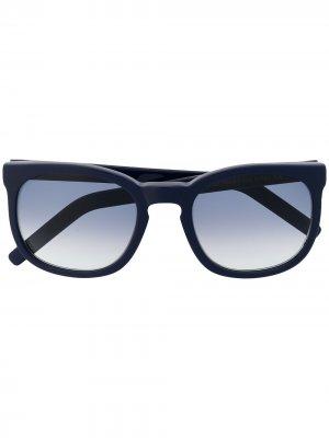 Солнцезащитные очки в квадратной оправе Cutler & Gross. Цвет: синий