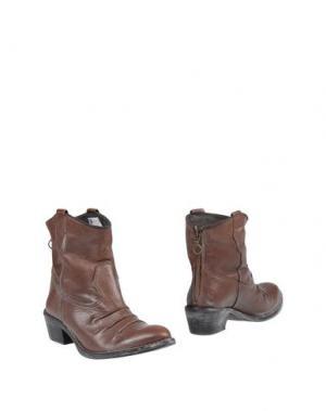 Полусапоги и высокие ботинки ALBERTO MORETTI. Цвет: темно-коричневый