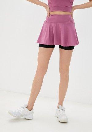 Юбка-шорты Nativos. Цвет: розовый