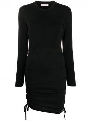 Приталенное трикотажное платье Laneus. Цвет: черный