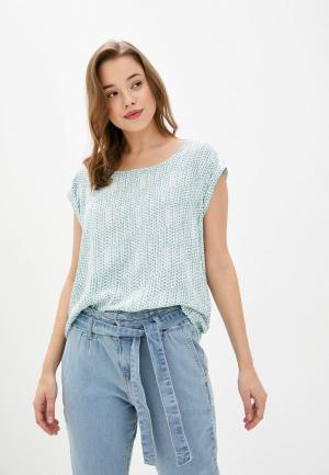Блуза Fresh Made. Цвет: бирюзовый