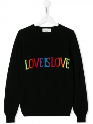 Джемпер Love Is Alberta Ferretti Kids. Цвет: черный