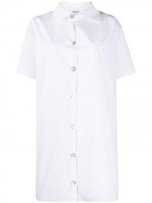Платье-рубашка с короткими рукавами Kenzo. Цвет: белый