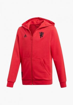 Толстовка adidas MUFC KIDS FZHD. Цвет: красный