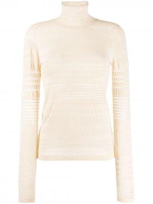Пуловер с длинными рукавами и вырезом Dorothee Schumacher. Цвет: нейтральные цвета